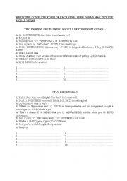 English worksheet: dialogues