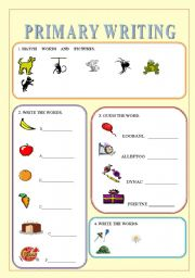 English Worksheets: PRIMARY WRITING