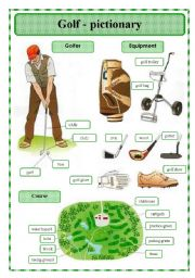 English Worksheet: Golf - pictionary