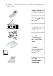 English Worksheet: Means Of Communication age 7-8