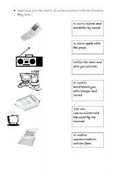 Printables Communication Worksheet english teaching worksheets means of communication age 7 8