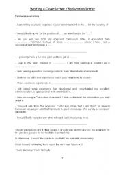 English Worksheet: motivation letter