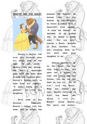 English Worksheet: TELL ME A STORY - BEAUTY AND THE BEAST