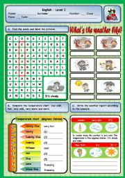 English Worksheet: WHAT´S THE WEATHER LIKE IN LONDON?