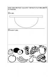 Vocabulary worksheets > Food > Fruits
