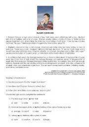 English Worksheets: Sugar Overdose
