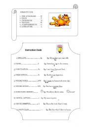 English Worksheets: Subject Code and Correction Code