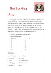 English Worksheets: The boy and the dog