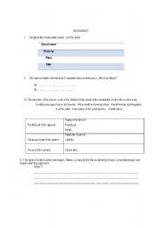 English Worksheet: I have a dream Worksheet