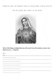 English Worksheets: Virgin Mary