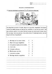 English Worksheets: The Bugs band