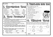 English Worksheet: Telling Time ONE