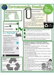 English Worksheets: Environmentally friendly