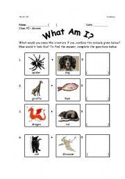 English Worksheets: Animal Mix-Up