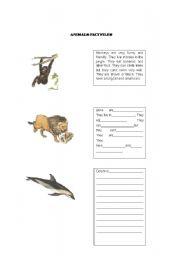English Worksheets: Animals - Factfiles