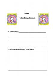 English Worksheets: wemberly worried