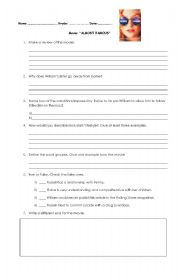 English Worksheets: Movie Almost Famous