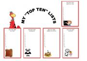 English Worksheets: MY TOP TEN LISTS