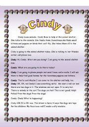 English Worksheets: Cindy
