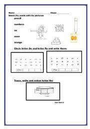 English worksheet: Teaching  Alphabets