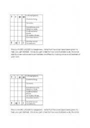 English Worksheets: English language word ladders