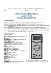 how to use a multimeter worksheet