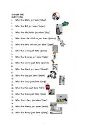 English worksheets: wh questions worksheets, page 88
