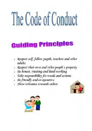 English Worksheets: The code of conduct