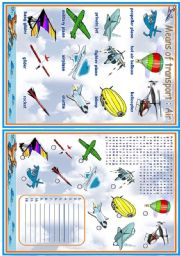 English Worksheet: Means of transport - Air