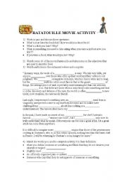 Ratatouille Movie Activity