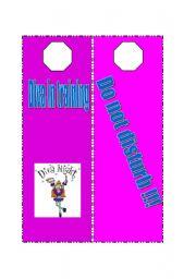 English Worksheets: Make your pupils create door hangers...