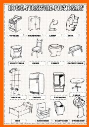 Elegant House Furniture Pictionary