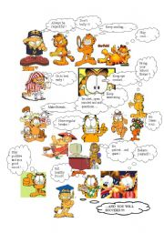 English Worksheet: Garfield´s pieces of advice!