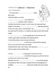 English Worksheets: THERE WAS THERE WERE