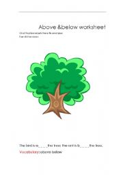 English Worksheets: above below