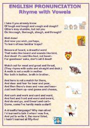 Pronunciation Poem with vowels