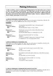 English teaching worksheets: Inference