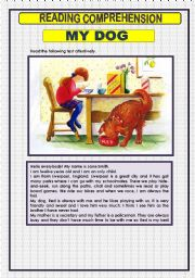 English Worksheets: READING COMPREHENSION -