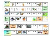 English Worksheet: abc cognates board game