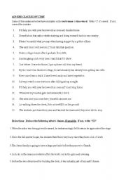 Time clauses worksheets