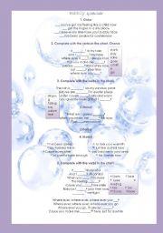 English Worksheets: Bubbly