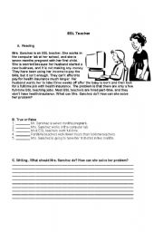 English Worksheets: Reading comprehension.