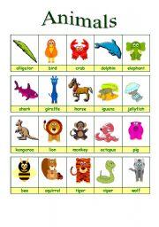 English Worksheets: Animals 1/2 (26.08.09)
