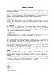 English Worksheet: Brooklyn & Sydney