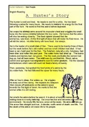 English Worksheets: Xai, the hunter