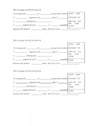 English Worksheets: find the animal