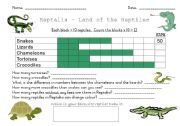 English Worksheet: Reptile Graph