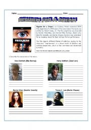 English Worksheets: MOVIE REQUIEM FOR A DREAM
