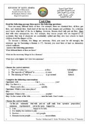 English Worksheets: Fires and Firefighters