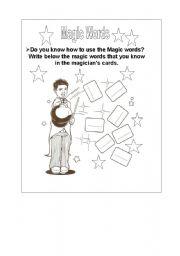 English Worksheets: Magic word